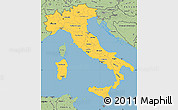 Savanna Style Simple Map of Italy