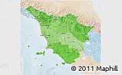 Political Shades 3D Map of Toscana, lighten