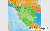 Political Shades 3D Map of Toscana