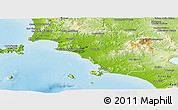 Physical Panoramic Map of Grosseto