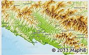Physical 3D Map of Massa-Carrara