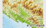 Physical Map of Massa-Carrara
