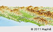Physical Panoramic Map of Massa-Carrara