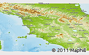 Physical Panoramic Map of Toscana