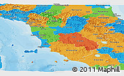 Political Panoramic Map of Toscana