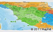 Political Shades Panoramic Map of Toscana
