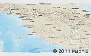Shaded Relief Panoramic Map of Toscana