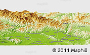 Physical Panoramic Map of Pistoia