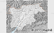 Gray 3D Map of Trentino-Alto Adige
