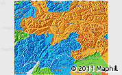 Political 3D Map of Trentino-Alto Adige