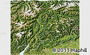 Satellite 3D Map of Trentino-Alto Adige