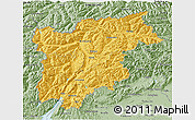 Savanna Style 3D Map of Trentino-Alto Adige