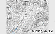 Silver Style 3D Map of Trentino-Alto Adige