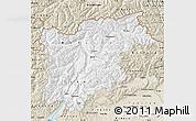 Classic Style Map of Trentino-Alto Adige