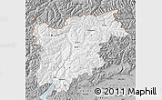 Gray Map of Trentino-Alto Adige