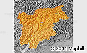 Political Shades Map of Trentino-Alto Adige, desaturated