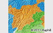 Political Shades Map of Trentino-Alto Adige