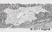 Gray Panoramic Map of Trentino-Alto Adige