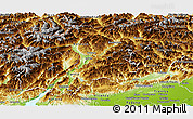 Physical Panoramic Map of Trentino-Alto Adige