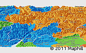 Political Panoramic Map of Trentino-Alto Adige