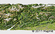 Satellite Panoramic Map of Trentino-Alto Adige