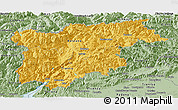 Savanna Style Panoramic Map of Trentino-Alto Adige