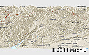 Shaded Relief Panoramic Map of Trentino-Alto Adige