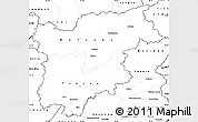 Blank Simple Map of Trentino-Alto Adige