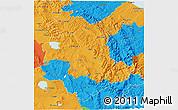 Political 3D Map of Umbria