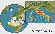 Satellite Location Map of Umbria