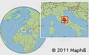 Savanna Style Location Map of Umbria
