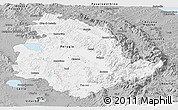 Gray Panoramic Map of Umbria