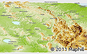 Physical Panoramic Map of Umbria