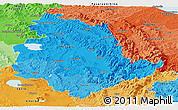 Political Shades Panoramic Map of Umbria