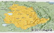 Savanna Style Panoramic Map of Umbria
