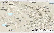 Shaded Relief Panoramic Map of Umbria