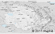 Silver Style Panoramic Map of Umbria