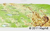 Physical Panoramic Map of Perugia