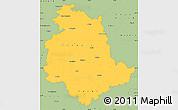 Savanna Style Simple Map of Umbria