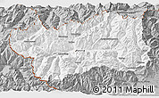 Gray 3D Map of Valle d'Aosta