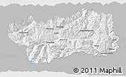 Gray 3D Map of Valle d'Aosta, single color outside