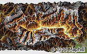Physical 3D Map of Valle d'Aosta, darken