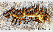 Physical 3D Map of Valle d'Aosta, lighten