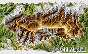 Physical 3D Map of Valle d'Aosta, satellite outside