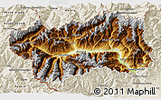 Physical 3D Map of Valle d'Aosta, shaded relief outside