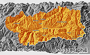 Political 3D Map of Valle d'Aosta, desaturated