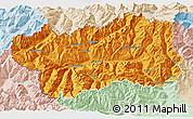 Political 3D Map of Valle d'Aosta, lighten
