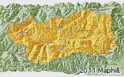 Savanna Style 3D Map of Valle d'Aosta