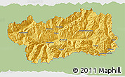 Savanna Style 3D Map of Valle d'Aosta, single color outside