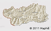 Shaded Relief 3D Map of Valle d'Aosta, cropped outside